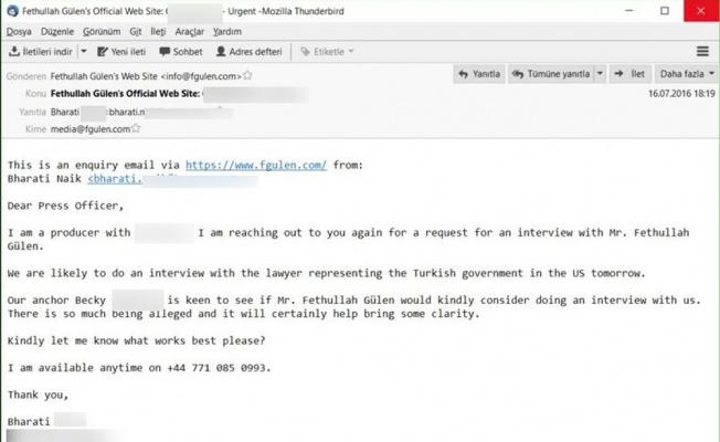 Gülen'in mailleri deşifre edildi
