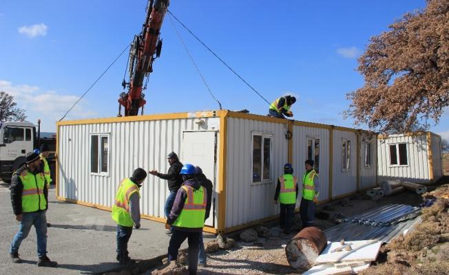 Ayvacık'ta konteyner okullar kuruluyor
