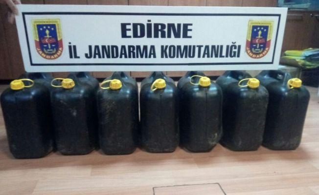 Edirne'de 153 litre asit anhidrit ele geçirildi
