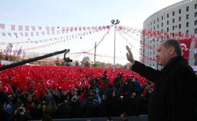 Erdoğan'ı  Malatya'da 100 bin kişi dinledi