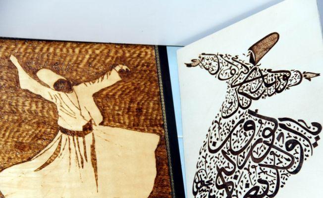 İmamın ahşap el sanatı eserleri ilgi görüyor