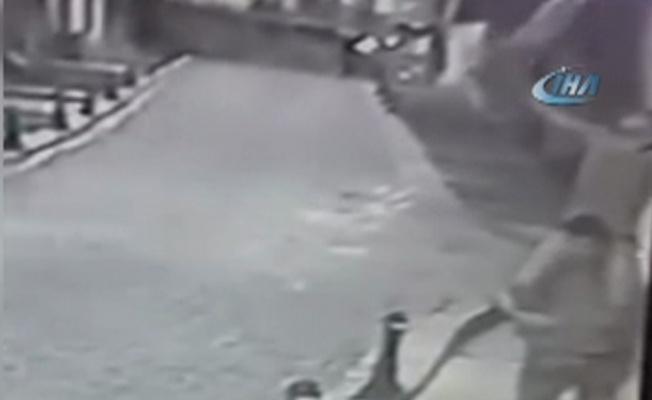 İş yeri kapısına asılan Türk bayrağını çaldılar