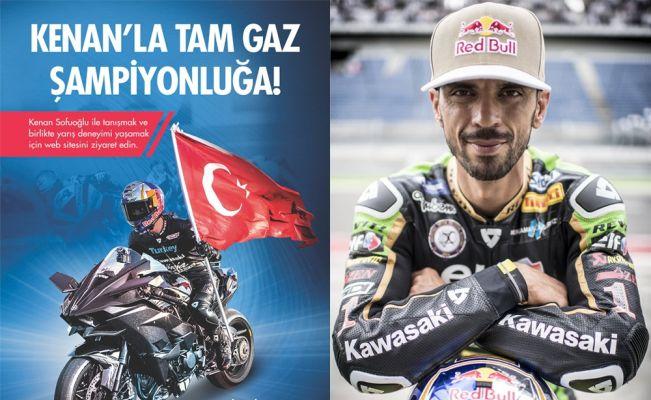 Milli motosikletçi Kenan Sofuoğlu destek bekliyor