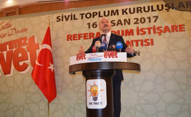 """Bakan Soylu: """"Referandum gelecek fırsatı"""""""