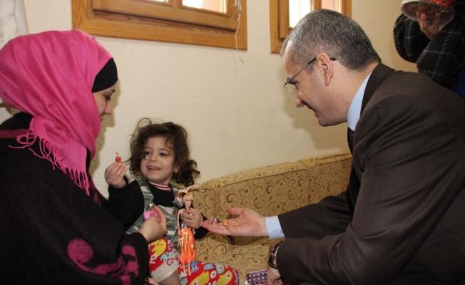 Tosya'daki Suriyeli çocuklara aşı yapıldı