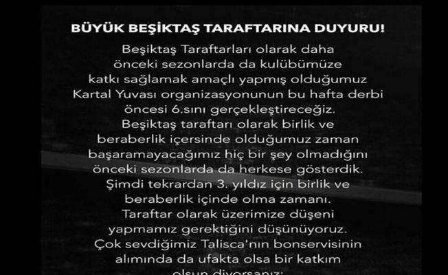Beşiktaş taraftarı Talisca için harekete geçti