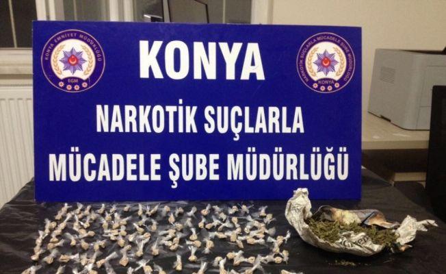 Konya'da uyuşturucu tacirlerine darbe: 5 gözaltı