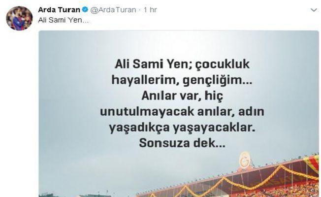 Arda Turan'dan Ali Sami Yen paylaşımı