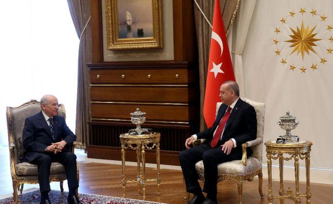 Erdoğan ve Bahçeli bugün bir araya geliyor