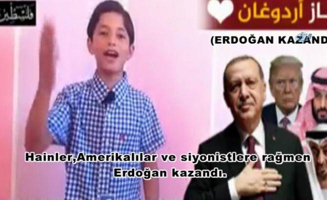 Filistinli çocuğun Cumhurbaşkanı Erdoğan sevgisi