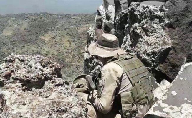 O teröristlere yönelik operasyonlardan sıcak görüntüler