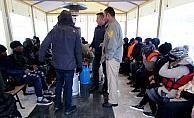 Sakız Adası'na kaçmaya çalışan 94 kaçak göçmen kurtarıldı
