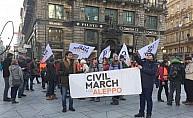 Halep için sivil yürüyüş üyeleri Viyana'ya ulaştı