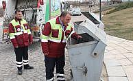 Çöp konteynerinde el bombası bulundu