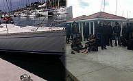 86 sığınmacı lüks yattan çıktı