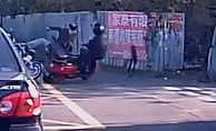 İki motosiklet böyle çarpıştı