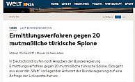 """Almanya'da 20 Türk hakkında """"casusluk"""" soruşturması"""
