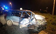 Silivri'de 2 otomobil kafa kafaya çarpıştı: 4 yaralı