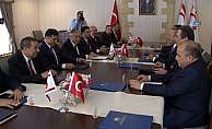 Çavuşoğlu KKTC başbakanı ile görüştü