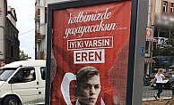 Eren Bülbül'ün fotoğrafının bulunduğu raket kırıldı