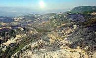 Zeytinköy'deki orman yangını havadan görüntülendi