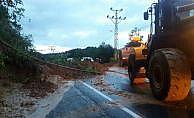 Rize'de şiddetli yağış heyelanlara sebep oldu