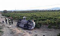 Asker ziyaretine giderken kaza yaptılar