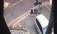 Motosikletli hırsız polisten kaçarken kaza yaptı
