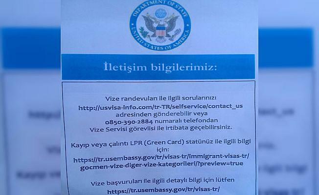 ABD vizesi için gelenlere bu kağıt veriliyor