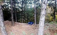 Kütahya'da ormanlık alanda zincirli vahşet