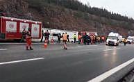 Ankara'da yolcu otobüsü devrildi: 2 ölü