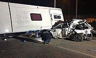 Bursa'da facia gibi kaza, 4 ölü: 11 yaralı