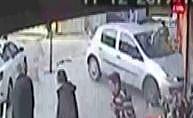 Freni tutmayan araç çiğ köfte dükkanına girdi