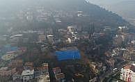 Bursa'daki heyelan bölgesi drone ile görüntülendi
