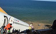 Yolcu uçağını kurtarma çalışmaları sürüyor