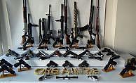 Silah kaçakçılarına operasyonda 20 gözaltı